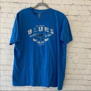 Saint Louis Blues short sleeved graphic tee shirt